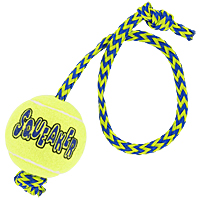 Kong Squeaker Ball with Throw Rope