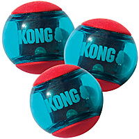 Kong Squeez Action Balls, 3-Pack