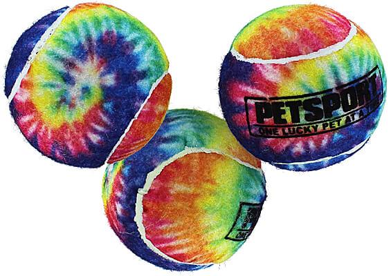 Tie Dye Squeak Balls - 3-Pack