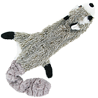 Skinneeez Stuffing-free Dog Toy - Raccoon, 23""