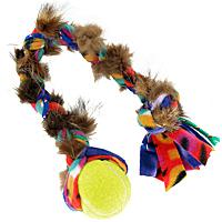 TugAway Squeaky Ball Fur Tug