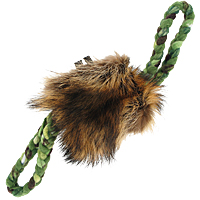 TugAway Raccoon Reward Pouch Dog Toy