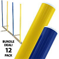 Solid Color Weave Poles - Set of 12