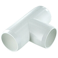 1-1/4 in. Tee PVC Fitting, Furniture Grade - White
