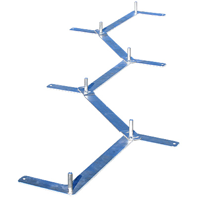 Clip and Go Agility 3-in-1 Weave Pole Bases - Set of 06