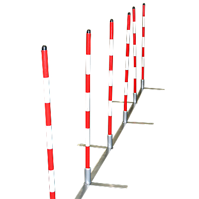 Cool Runners Training Weave Poles with Metal Base - Set of 12