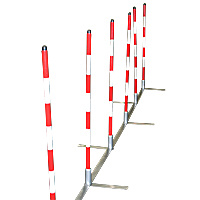 Cool Runners Metal Base Training Weave Poles - Set of 12