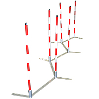 Cool Runners Metal Base Training Weave Poles - Set of 6