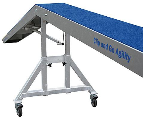 Clip and Go Agility Competition Dogwalk