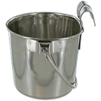 Stainless Steel Flat-sided Pail - 1 Qt.