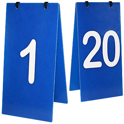 Obstacle Number Set, 1 to 20 - Tent Style