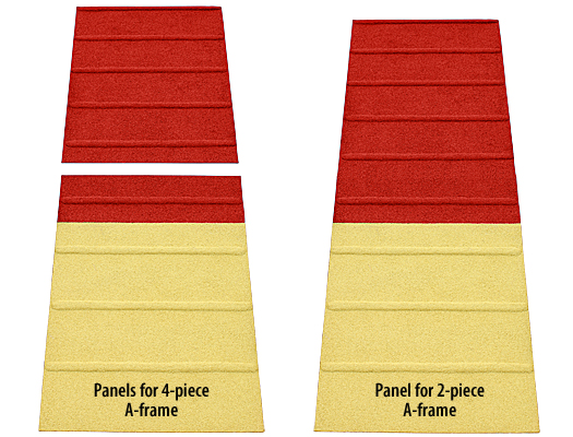 A-frame Rubberized Modular Panel Replacement Surfaces