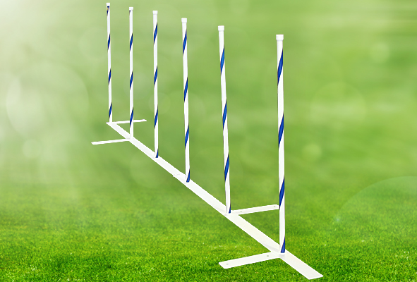 Competition Weave Poles, 24 in. Spacing - Set of 6