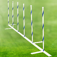 "Competition Weave Poles, 22"" Spacing - Set of 6"