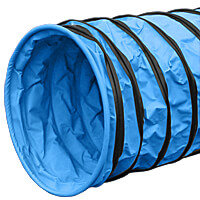 Naylor Medium-Weight Training Agility Tunnels - 5-meter, Light Blue