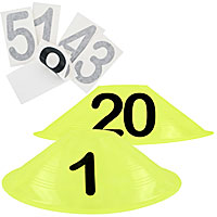BUNDLE DEAL: 20-Obstacle Number Set - Half Cones