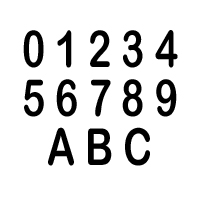 "Vinyl Number Decals - Individual, 3"" Black"