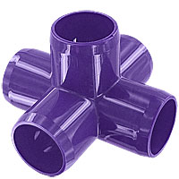 1 in. 5-Way PVC Fitting, Furniture Grade - Purple