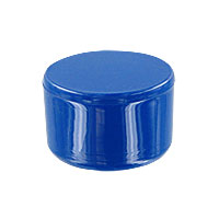 1 in. External PVC Flat End Caps, Furniture Grade - Blue