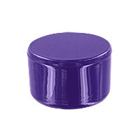 1 in. External PVC Flat End Caps, Furniture Grade - Purple