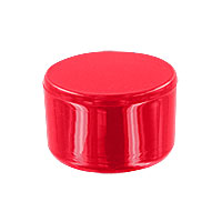 1 in. External PVC Flat End Caps, Furniture Grade - Red