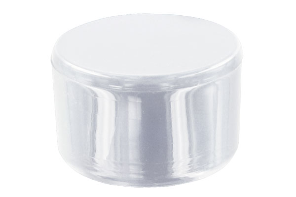 1-1/4 in. External PVC Flat End Caps, Furniture Grade - White