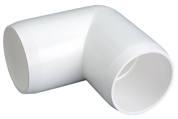 1-1/4 in. 90-Degree Elbow PVC Fitting, Furniture Grade - White
