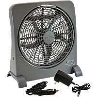 Treva Smart Power Rechargeable Portable 10 in. Fan