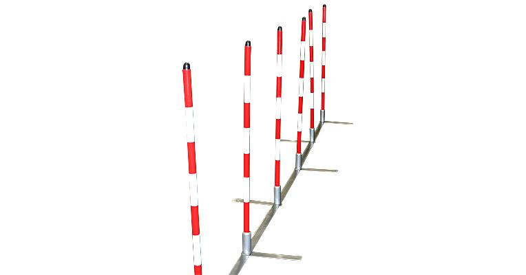 Cool Runners Training Weave Poles With Metal Base Set Of
