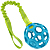 Bungee tug attached to a toy (not included)