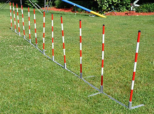 Cool Runners Metal Base Training Weave Poles Set Of 12